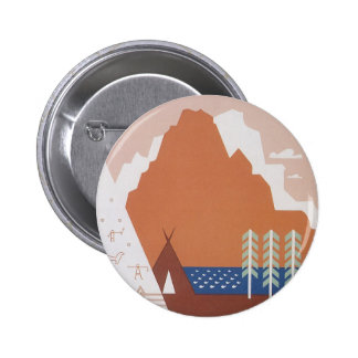 Vintage Travel, See America Welcome to Montana Pin
