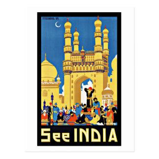 Vintage Travel See India Aisa Postcard