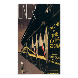 Vintage Travel Southern Train Poster
