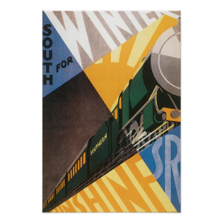 Vintage Travel Southern Train Posters
