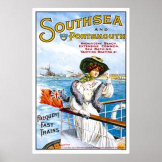 Vintage travel,Southsea Posters
