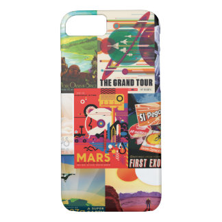 Vintage travel space poster collection iPhone 8/7 case