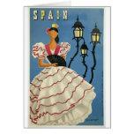 Vintage Travel Spain Card