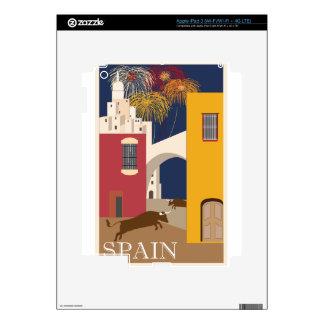 Vintage Travel Spain Skin For iPad 3