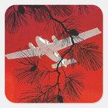 Vintage Travel Stickers Plane Airplane Prop FW Wht