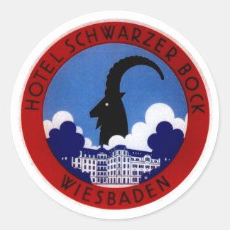 Vintage Travel Stickers Wiesbaden Germany Alps mtn