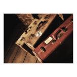"""Vintage Travel Suitcases Invitations 5"""" X 7"""" Invitation Card"""