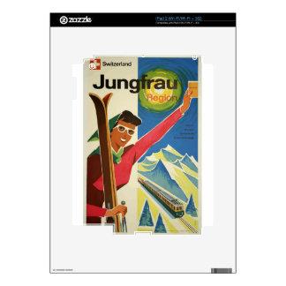 Vintage Travel Switzerland Jungfrau Decal For iPad 2
