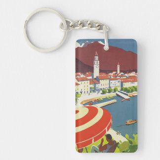 Vintage Travel Switzerland Keychain