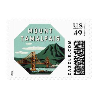 Vintage Travel, Tamalpais Mountain or Mount Tam Stamp