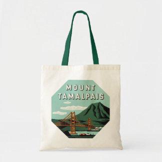 Vintage Travel, Tamalpais Mountain or Mount Tam Tote Bag