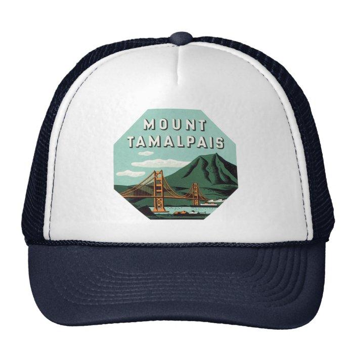 Vintage Travel, Tamalpais Mountain or Mount Tam Trucker Hat