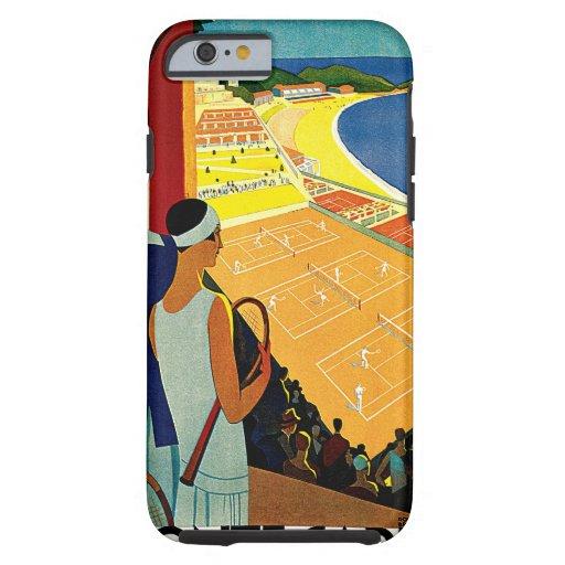 Vintage Travel, Tennis, Sports, Monte Carlo Monaco iPhone 6 Case