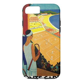 Vintage Travel, Tennis, Sports, Monte Carlo Monaco iPhone 7 Case