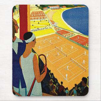 Vintage Travel, Tennis, Sports, Monte Carlo Monaco Mouse Pad