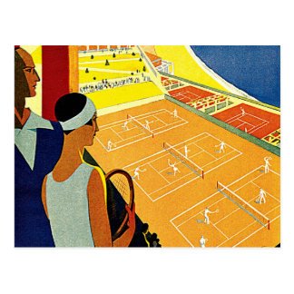 Vintage Travel, Tennis, Sports, Monte Carlo Monaco Postcards