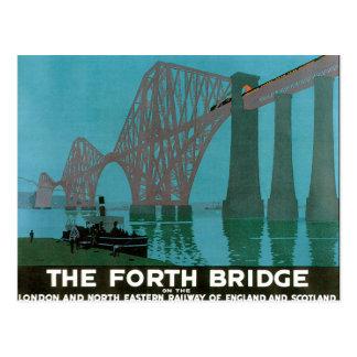 Vintage Travel, The Fourth Bridge, London Postcard