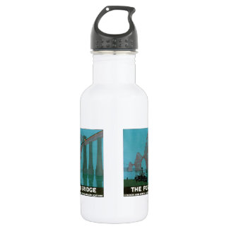 Vintage Travel, The Fourth Bridge, London Water Bottle