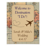 Vintage Travel Themed Decoration-Wedding Sign