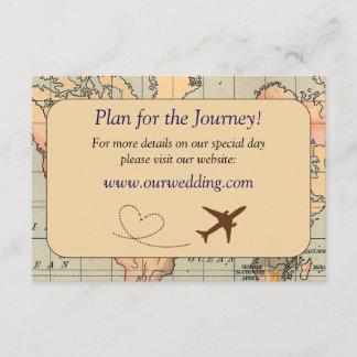 Vintage, Travel Themed Wedding Details Card