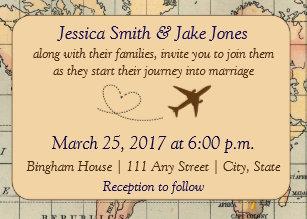 Travel Themed Invitations Zazzle