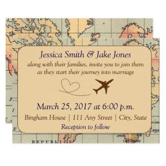 Travel Wedding Invitations Announcements Zazzle