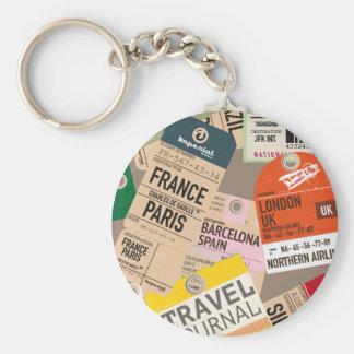 Vintage Travel Tickets Keychain