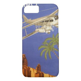 Vintage Travel to Cairo, Eygpt, Biplane Airplane iPhone 8/7 Case