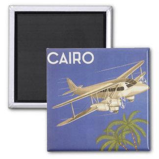 Vintage Travel to Cairo, Eygpt, Biplane Airplane Magnet