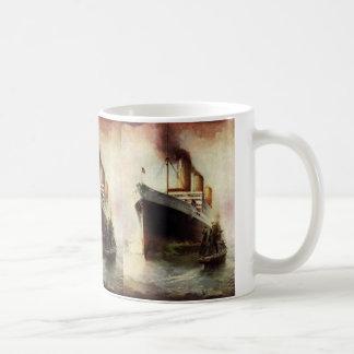 Vintage Travel Transportation Cruise Ship at Sea Coffee Mug