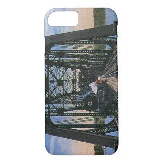 Vintage Travel Transportation Train on Bridge iPhone 8/7 Case