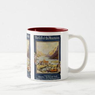 Vintage Travel Two-Tone Coffee Mug