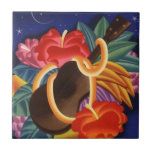 "Vintage Travel Ukelele Hibiscus Hawaii Nights Tile<br><div class=""desc"">A Vintage Tropical Travel Gift Tile - Hibiscus laden Ukelele...  Hawaiian Nights!  Enjoy Tile &amp; Thanks For Stopping By!</div>"