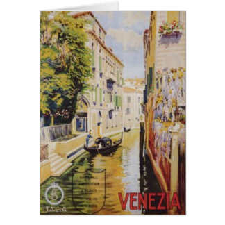 Vintage travel Venice, Italy - Card