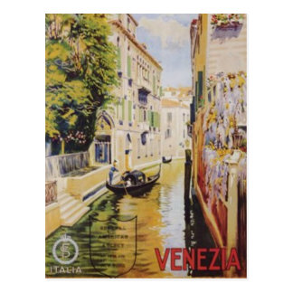 Vintage travel Venice, Italy - Postcard