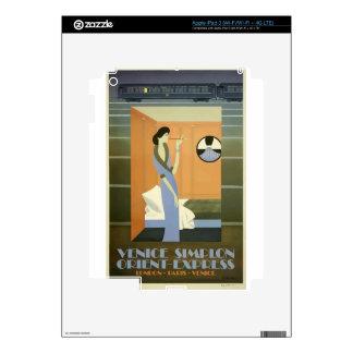 Vintage Travel Venice Orient Express iPad 3 Skin