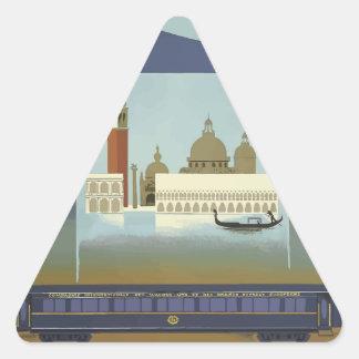 Vintage Travel Venice Orient Express Triangle Sticker