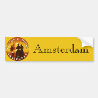 Vintage Travel, Victoria Hotel, Amsterdam, Holland Bumper Sticker
