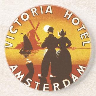 Vintage Travel, Victoria Hotel, Amsterdam, Holland Coaster