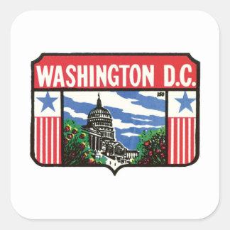 Vintage Travel Washington D.C. State Label Art