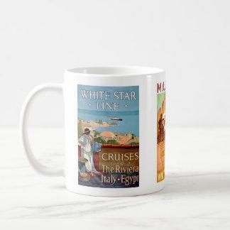 Vintage travel,White Star Line Classic White Coffee Mug