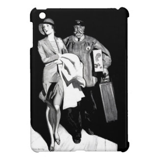 Vintage Travel Woman Bellhop Suitcase Luggage Man Case For The iPad Mini