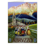 Vintage Travel, Women of Abruzzo, Italy Card