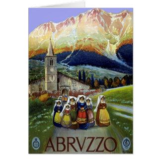 Vintage Travel, Women of Abruzzo, Italy Card