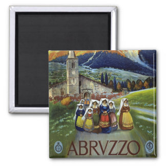 Vintage Travel, Women of Abruzzo, Italy Magnet