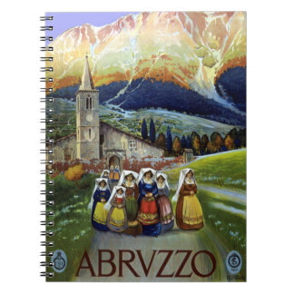 Vintage Travel, Women of Abruzzo, Italy Notebook