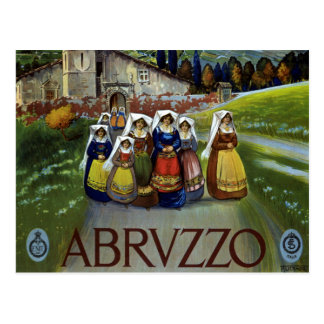 Vintage Travel, Women of Abruzzo, Italy Postcard