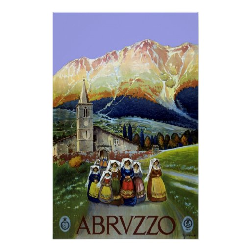 Vintage Travel, Women of Abruzzo, Italy Poster