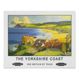 Vintage Travel,Yorkshire Coast Poster