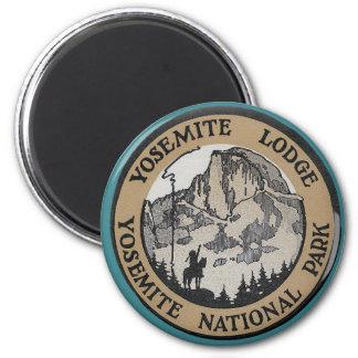 Vintage Travel - Yosemite 2 Inch Round Magnet